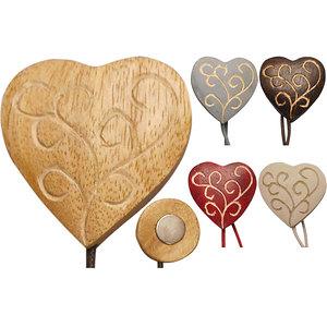 Embrasse aimantée coeur volutes