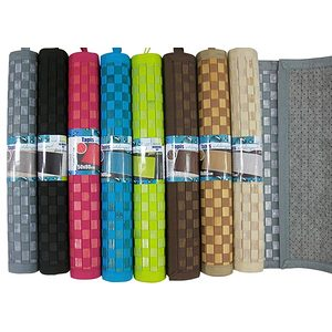 Tapis bambou damier 50x80 multi usages