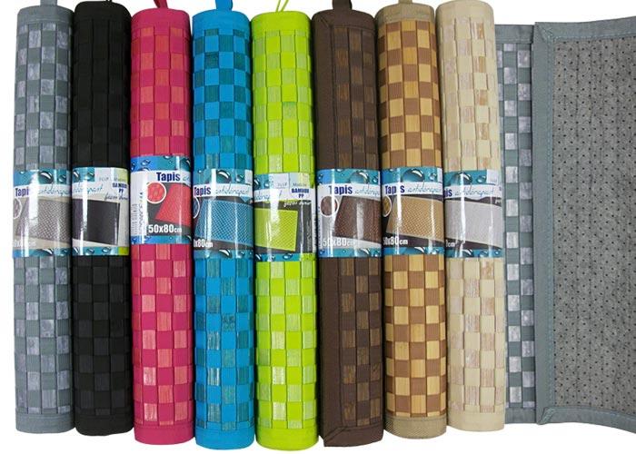 tapis bambou damier 50x80 multi usages tapis anti d rapant tapis bambou pas cher. Black Bedroom Furniture Sets. Home Design Ideas