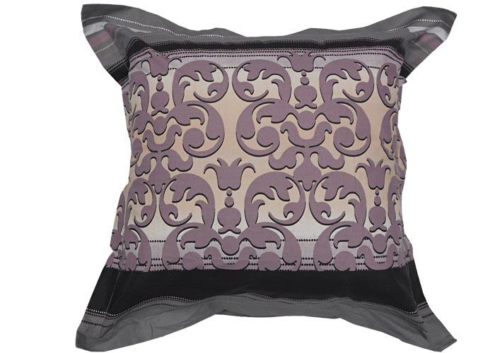 parure housse de couette baroque taupe 140x200 cm lit 1. Black Bedroom Furniture Sets. Home Design Ideas