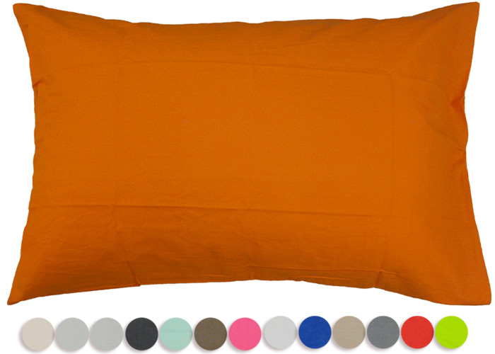 taie d 39 oreiller rectangulaire coton uni 57 fils 1er prix. Black Bedroom Furniture Sets. Home Design Ideas
