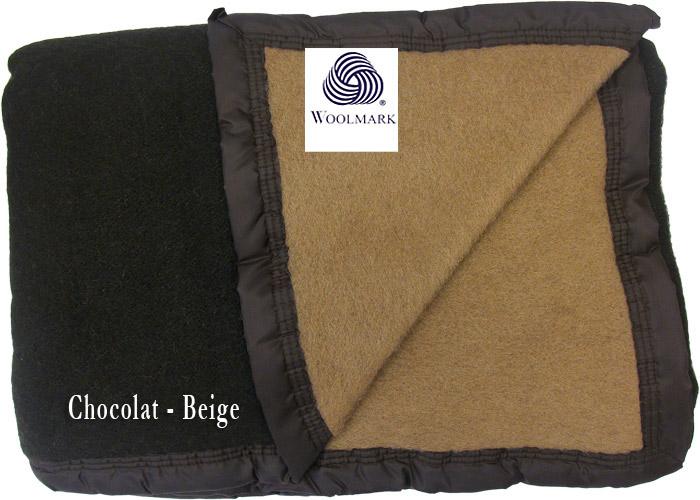 Couverture pure laine vierge woolmark pour lit de 2 places de 140