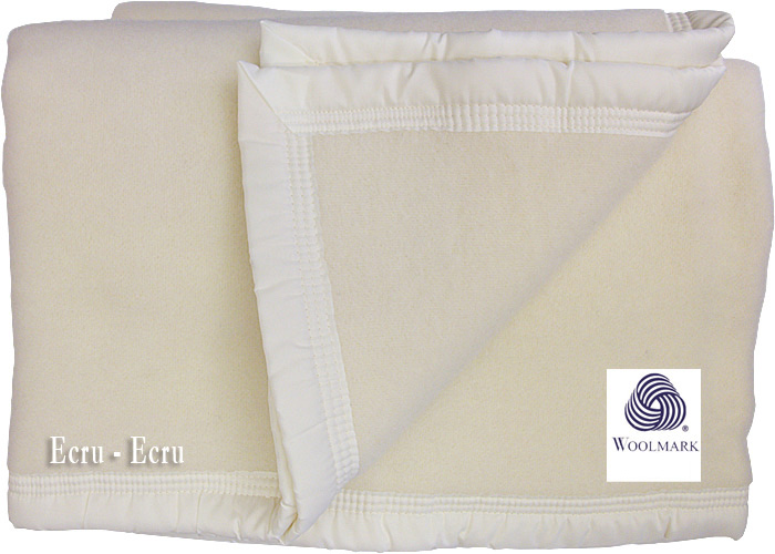 couverture pure laine vierge woolmark pour lit de 2 places. Black Bedroom Furniture Sets. Home Design Ideas