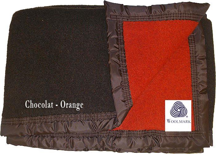 Couverture pure laine vierge woolmark pour lit de 2 places de 140 cm ...