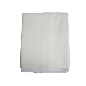 Nappe blanche polyester uni rectangulaire 300x148 cm