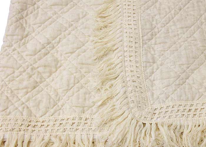 jet de lit ibiza cru et ivoire couvre lit franges couvre lit pour lit 2 personnes. Black Bedroom Furniture Sets. Home Design Ideas