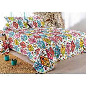 couvre lit boutis gypsie plaid imprim gypsie. Black Bedroom Furniture Sets. Home Design Ideas