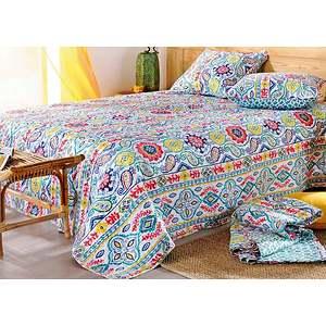 couvre lit boutis miko plaid multicolore miko. Black Bedroom Furniture Sets. Home Design Ideas