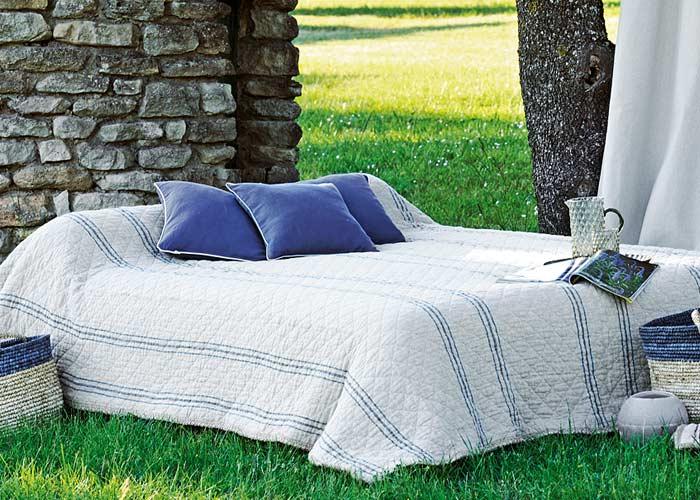 couvre lit boutis coloris lin altai 240x260 cm. Black Bedroom Furniture Sets. Home Design Ideas