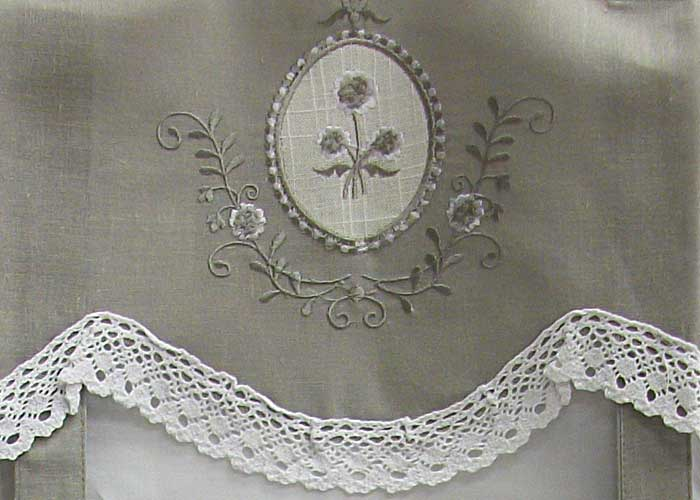 Vitrage nouettes passe tringle brod gris blanc avec for Fenetre 80x160