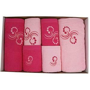 Coffret éponge 6 pièces fushia et rose Points et arabesques