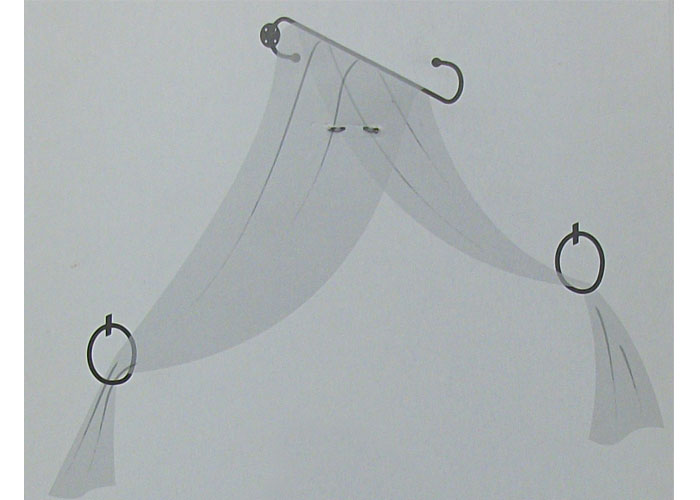 support m tal noir pour ciel de lit support ciel de lit. Black Bedroom Furniture Sets. Home Design Ideas