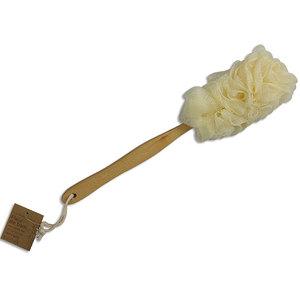 Fleur de bain avec manche en bois