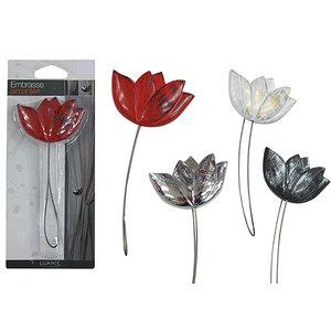 Embrasse aimantée tulipe à cordon acier