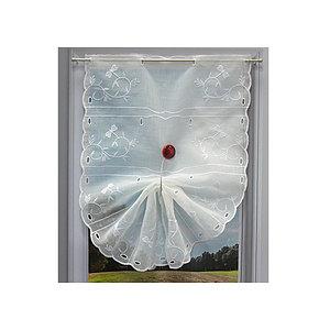 Petit rideau Blanc motif Libellule