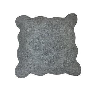 Housse de coussin boutis Islande gris