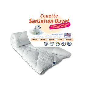 Couette 200x200 Sensation Duvet Bleu Calin 500g/m2 Haut de gamme