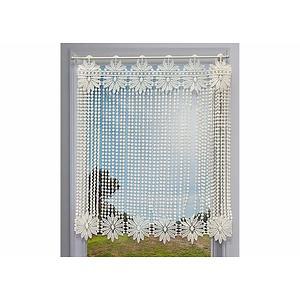 Brise bise macramé écru motif Fleurs et perles