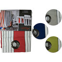 Rideau polyester à rayures 150x265 cm modèle BAYONNE-Promotion Solde