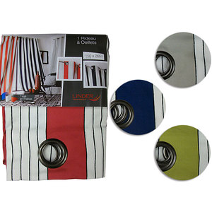 Rideau polyester à rayures 150x265 cm modèle BAYONNE