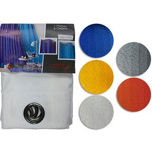 Rideau ROMANE coton polyester et lin 150x260 cm