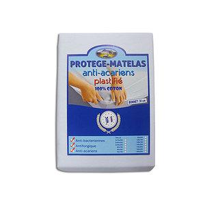 Protège matelas housse 100% coton anti-acariens et imperméable