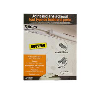 Joint isolant blanc adhésif tout type de porte & fenêtre