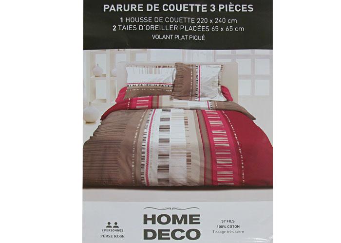 housse de couette taupe et rose trendy housse de couette. Black Bedroom Furniture Sets. Home Design Ideas