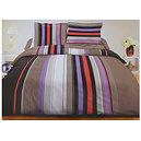 Parure de draps 140 x190cm 4 pièces multicolore parme