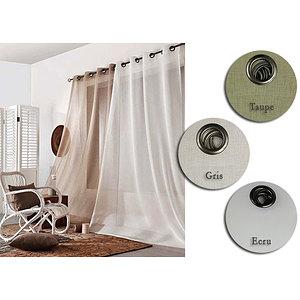 rideau voilage grande largeur quartz 240x260 cm voilage. Black Bedroom Furniture Sets. Home Design Ideas