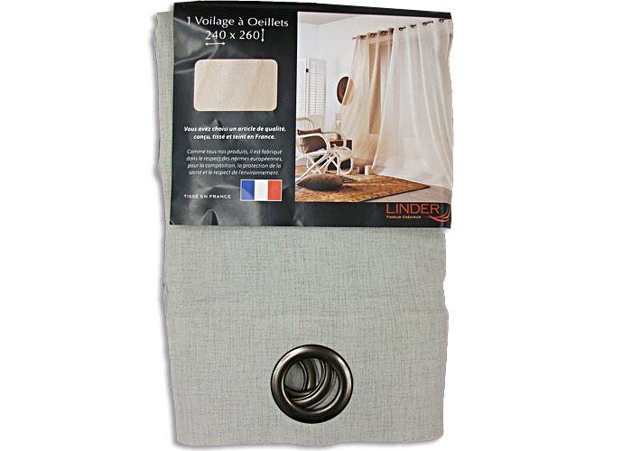rideau voilage grande largeur quartz 240x260 cm voilage baie vitr e pas cher. Black Bedroom Furniture Sets. Home Design Ideas