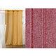 Voilage JOUR DE LIN 150x260 Col.69 rouge à oeillets ronds