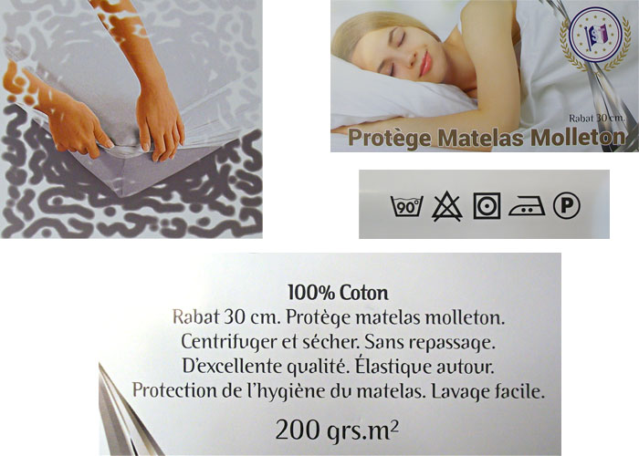 prot ge matelas housse bonnet 30 cm prot ge matelas lit 1 ou 2 personnes prot ge matelas. Black Bedroom Furniture Sets. Home Design Ideas