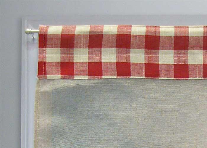 Petit rideaux 45x60 cm lin et rouge brod papillon rouge for Fenetre 45x60