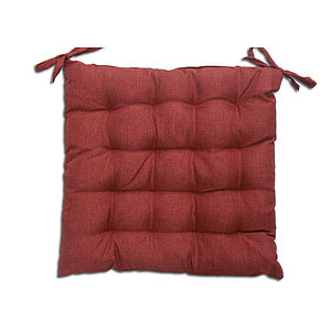 Coussin de chaise BEA uni rouge