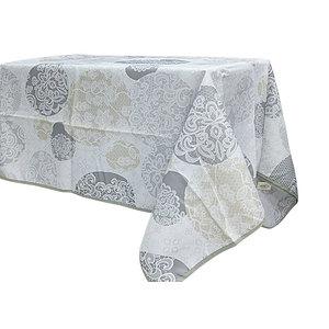 Nappe rectangle 150x240 cm antitache motif aspect dentelle