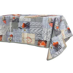 Nappe rectangle 145x240 cm antitache thème montagne