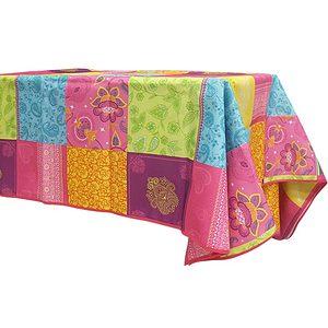 Nappe rectangle 145x240 cm antitache multicolore