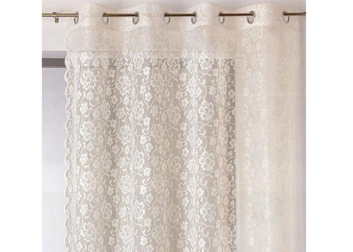 voilage dentelle montmirail 160x260 cm voilage pr t. Black Bedroom Furniture Sets. Home Design Ideas