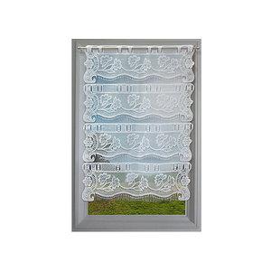 Petit rideau blanc esprit dentelle fleurie petit rideau pr t poser petit rideau en bande - Rideau dentelle romantique ...