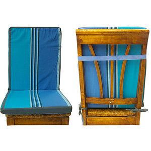 coussin de chaise dossier d houssable ray e bleu et turquoise coussin de chaise carr. Black Bedroom Furniture Sets. Home Design Ideas