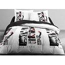 Parure de couette New York City 220x240 cm + 2 taies d'oreiller