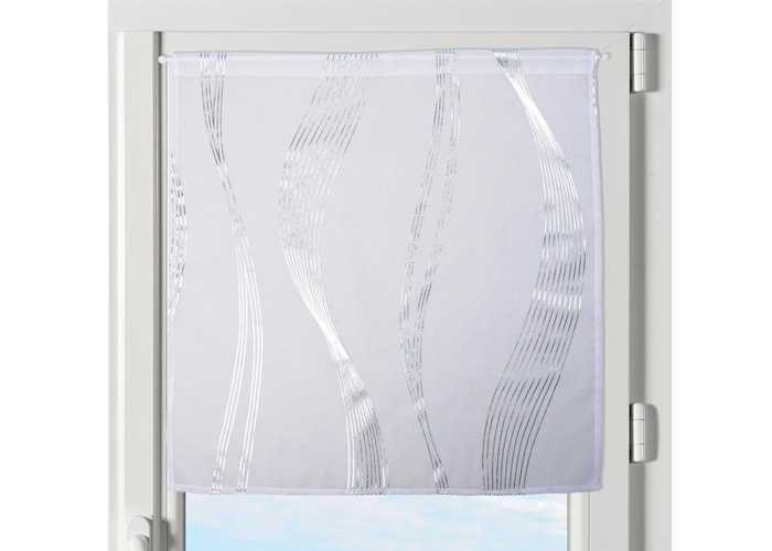 paire de brise bise essaouira blanc petit rideau voile. Black Bedroom Furniture Sets. Home Design Ideas