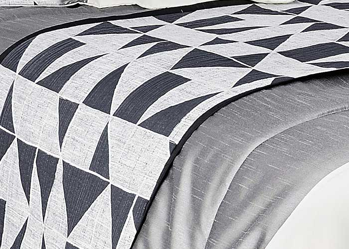couvre lit boutis 2 taies Couvre lit Boutis BINGO + 2 taies d'oreiller   Jeté de lit gris et  couvre lit boutis 2 taies