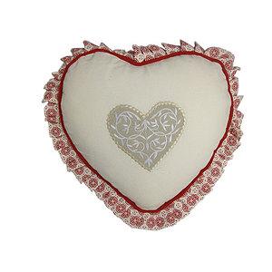Coussin déhoussable forme cœur DARLA