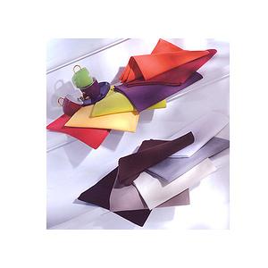 Serviette de table tissu Coton uni Ligne arc en ciel
