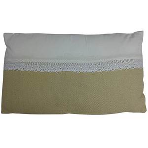 Coussin rectangle mummy dentelle horizontale