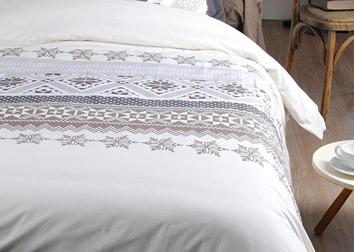 parure housse de couette alpage beige th me montagne housse couette 140x200 pour lit une place. Black Bedroom Furniture Sets. Home Design Ideas