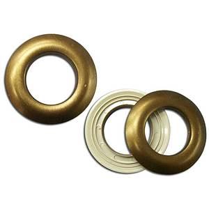 Oeillet clipsable bronze diamètre intérieur 25mm