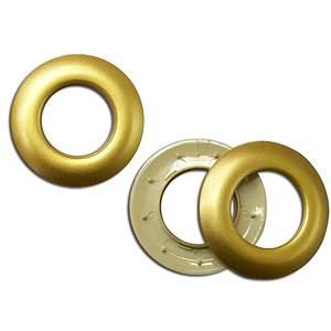 Oeillet clipsable doré mat diamètre intérieur 25mm